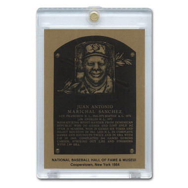 Juan Marichal 1984 Hall of Fame Metallic Plaque Card