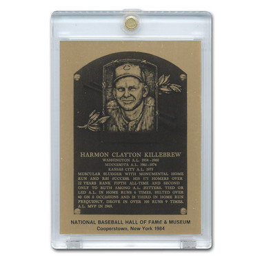Harmon Killebrew 1984 Hall of Fame Metallic Plaque Card