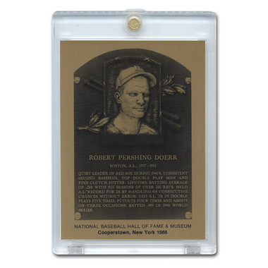 Bobby Doerr 1986 Hall of Fame Metallic Plaque Card
