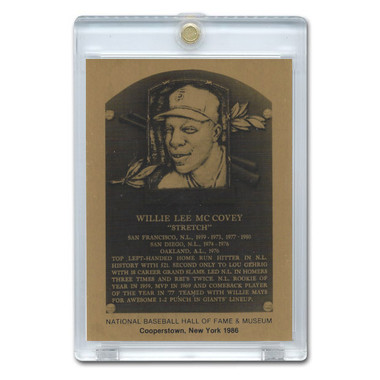 Willie McCovey 1986 Hall of Fame Metallic Plaque Card