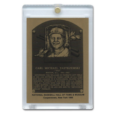 Carl Yastrzemski 1989 Hall of Fame Metallic Plaque Card