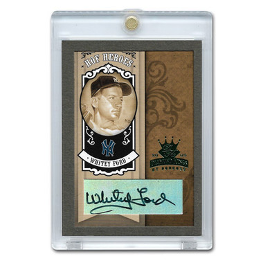 Whitey Ford Autographed Card 2005 Donruss Diamond Kings HOF Heroes #HH-88 Ltd Ed of 10