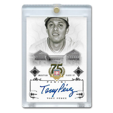 Tony Perez Autographed Card 2014 Panini Cooperstown HOF 75th Anniversary # 94