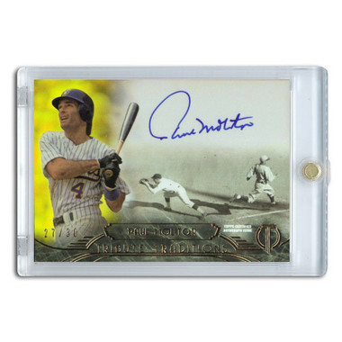 Paul Molitor Autographed Card 2014 Topps Tribute Traditions Ltd Ed of 30