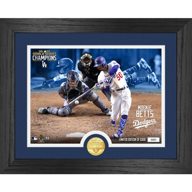Highland Mint Mookie Betts 2020 World Series 13 x 16 Framed Bronze Coin Photo Mint