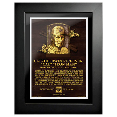 Cal Ripken Jr. Baseball Hall of Fame 18 x 14 Framed Plaque Art