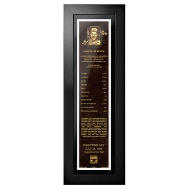 Johnny Bench Baseball Hall of Fame 24 x 8 Framed Plaque Art