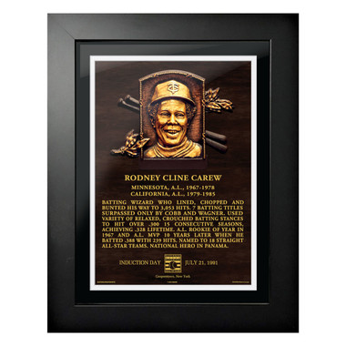 Rod Carew Baseball Hall of Fame 18 x 14 Framed Plaque Art