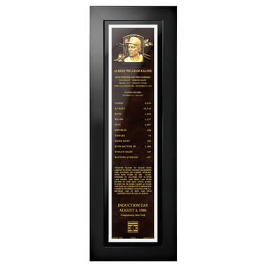 Al Kaline Baseball Hall of Fame 24 x 8 Framed Plaque Art