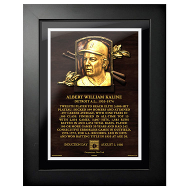 Al Kaline Baseball Hall of Fame 18 x 14 Framed Plaque Art