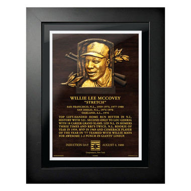 Willie McCovey Baseball Hall of Fame 18 x 14 Framed Plaque Art