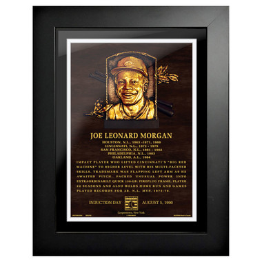 Joe Morgan Baseball Hall of Fame 18 x 14 Framed Plaque Art