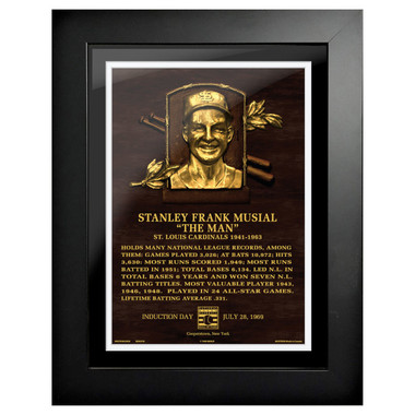 Stan Musial Baseball Hall of Fame 18 x 14 Framed Plaque Art