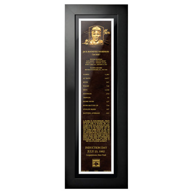 Jackie Robinson Baseball Hall of Fame 24 x 8 Framed Plaque Art