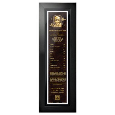 Tom Seaver Baseball Hall of Fame 24 x 8 Framed Plaque Art