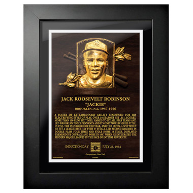 Jackie Robinson Baseball Hall of Fame 18 x 14 Framed Plaque Art