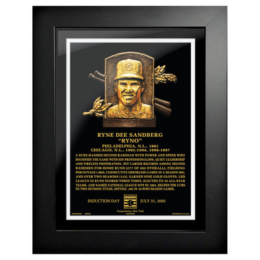 Ryne Sandberg Baseball Hall of Fame 18 x 14 Framed Plaque Art