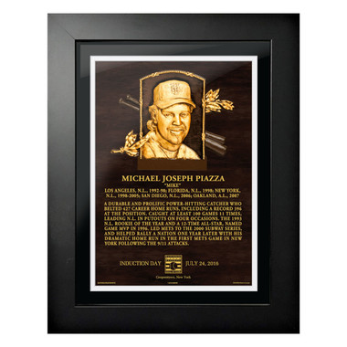 Mike Piazza Baseball Hall of Fame 18 x 14 Framed Plaque Art
