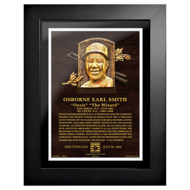 Ozzie Smith Baseball Hall of Fame 18 x 14 Framed Plaque Art