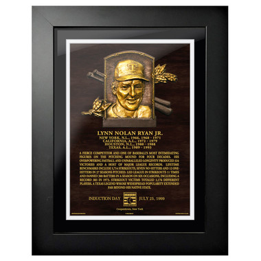 Nolan Ryan Baseball Hall of Fame 18 x 14 Framed Plaque Art