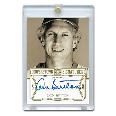 Don Sutton Autographed Card 2013 Panini Cooperstown Signatures Ltd Ed of 200