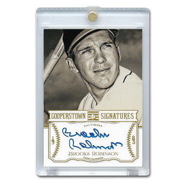 Brooks Robinson Autographed Card 2013 Panini Cooperstown Signatures Ltd Ed 350