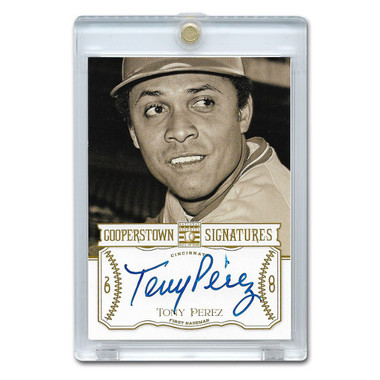 Tony Perez Autographed Card 2013 Panini Cooperstown Signatures Ltd Ed 300