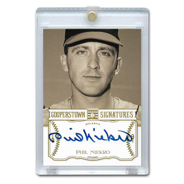 Phil Niekro Autographed Card 2013 Panini Cooperstown Signatures Ltd Ed 350