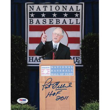 Pat Gillick Autographed Hall of Fame Speech 8x10 Photograph (PSA )