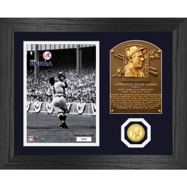 Highland Mint Yogi Berra Hall of Fame Plaque Bronze Coin 13 x 16 Photo Mint