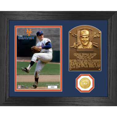 Highland Mint Tom Seaver Hall of Fame Plaque Bronze Coin 13 x 16 Photo Mint