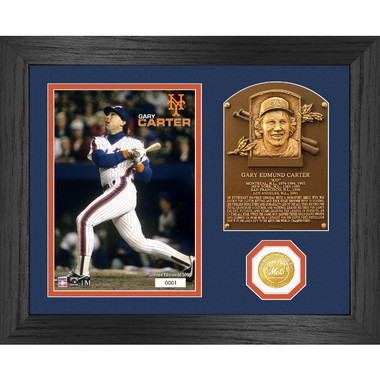 Highland Mint Gary Carter Hall of Fame Plaque Bronze Coin 13 x 16 Photo Mint