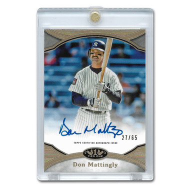 Don Mattingly Autographed Card 2020 Topps Tier One Prime Performers Ltd Ed of 65