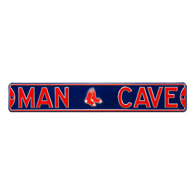 Boston Red Sox Authentic Street Signs 6 x 36 Steel Man Cave Street Sign