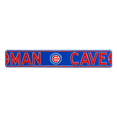 Chicago Cubs Authentic Street Signs 6 x 36 Steel Man Cave Street Sign