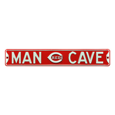 Cincinnati Reds Authentic Street Signs 6 x 36 Steel Man Cave Street Sign