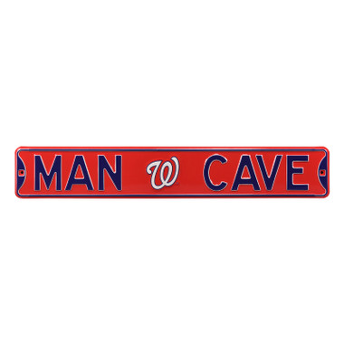 Washington Nationals Authentic Street Signs 6 x 36 Steel Man Cave Street Sign
