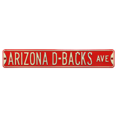 Arizona Diamondbacks Authentic Street Signs 6 x 36 Steel Team Street Sign