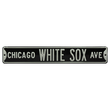Chicago White Sox Authentic Street Signs Black 6 x 36 Steel Team Street Sign