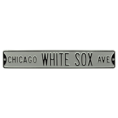 Chicago White Sox Authentic Street Signs Silver 6 x 36 Steel Team Street Sign