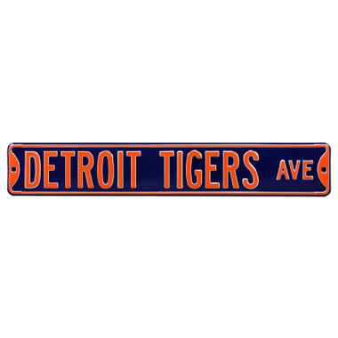 Detroit Tigers Authentic Street Signs 6 x 36 Steel Team Street Sign