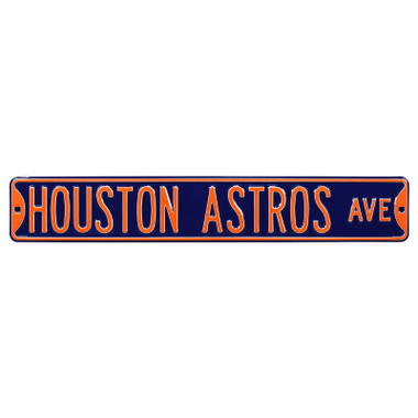 Houston Astros Authentic Street Signs 6 x 36 Steel Team Street Sign