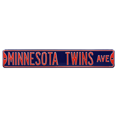 Minnesota Twins Authentic Street Signs 6 x 36 Steel Team Street Sign