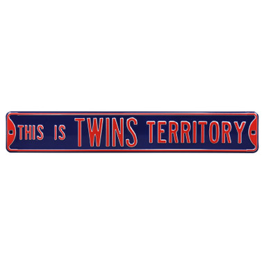 Minnesota Twins Territory Authentic Street Signs 6 x 36 Steel Team Street Sign