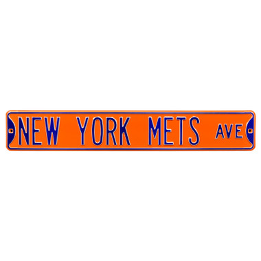 New York Mets Orange Authentic Street Signs 6 x 36 Steel Team Street Sign