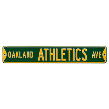 Oakland Athletics Authentic Street Signs 6 x 36 Steel Team Street Sign