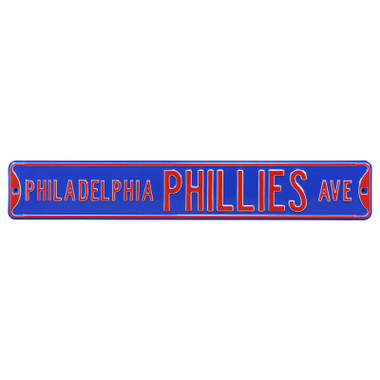 Philadelphia Phillies Blue Authentic Street Signs 6 x 36 Steel Team Street Sign