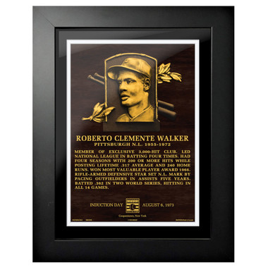 Roberto Clemente Baseball Hall of Fame 18 x 14 Framed Plaque Art