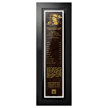 Roberto Clemente Baseball Hall of Fame 24 x 8 Framed Plaque Art