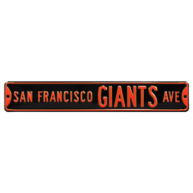 San Francisco Giants Authentic Street Signs 6 x 36 Steel Team Street Sign